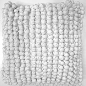 Hvid Dot pude 45 x 45 cm