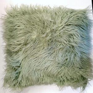 Mint langhåret pels 45 x 45 cm