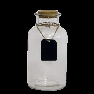 Apoteker flaske krukke med kork låg 19 cm