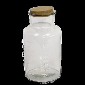 Apoteker flaske krukke med kork låg 25 cm