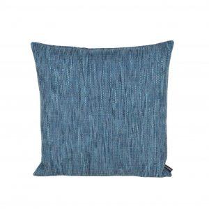 Blå grov vævet pude 45 x 45 cm