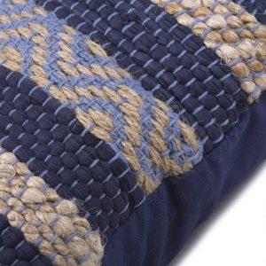 Blå kludetæppe pude 45 x 45 cm a