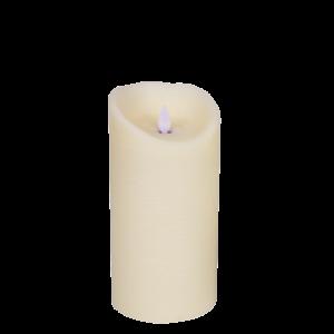 Bloklys led creme ægte voks 20 cm