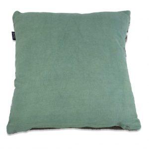 Grøn kludetæppe pude 45 x 45 cm a