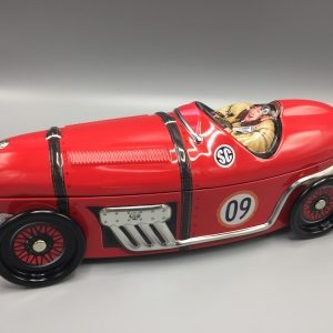 Kage dåse rød sportsvogn metal.