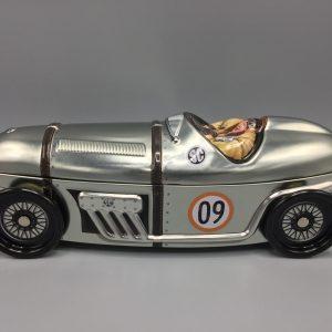 Kage dåse sølvpil sportsvogn metal