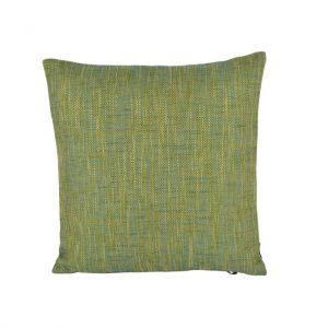 Lime grøn grov vævet pude 45 x 45 cm
