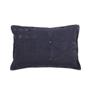 Mørkeblå Jeans lænde pude 30 x 45 cm