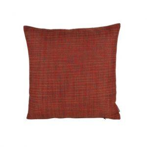 Rød grov vævet pude 45 x 45 cm
