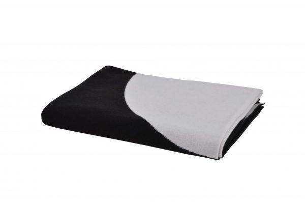 Sort og hvid vendbar acryl plaid