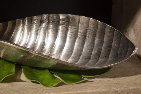 Trendy forkromet palmeblad skål 45 cm b