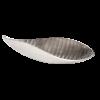 Trendy forkromet palmeblad skål 66 cm