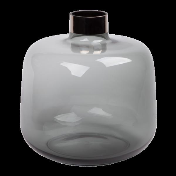 Trendy grå glas vaser 25 cm