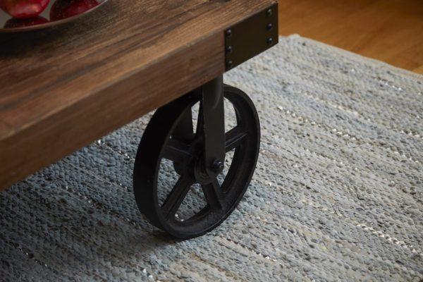 Trendy grå læder tæppe 70 x 140 cm a