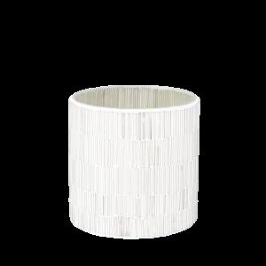 Trendy hvide mosaik glas lysestager 12 cm