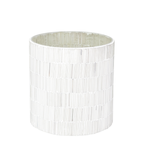 Trendy hvide mosaik glas lysestager