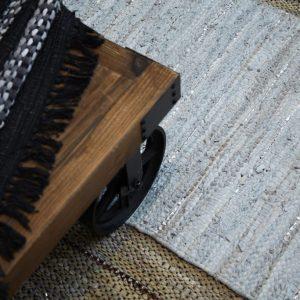 Trendy natur læder tæppe 70 x 140 cm a