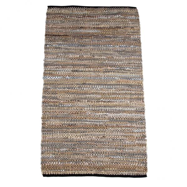 Trendy sand læder tæppe 70 x 140 cm