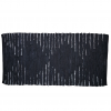 Trendy sort diamant læder tæppe 70 x 140 cm