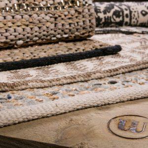 Trendy sort diamant læder tæppe 70 x 140 cm a