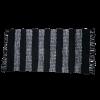 Trendy sort strib læder tæppe 70 x 140 cm