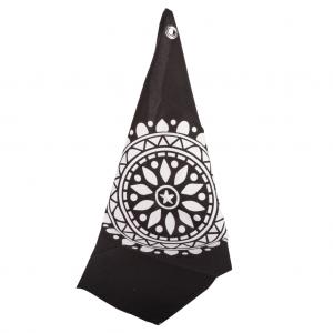 Viskestykker sort med hvid ornament
