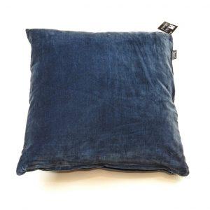 Mørk marineblå velour pude 45 x 45 cm