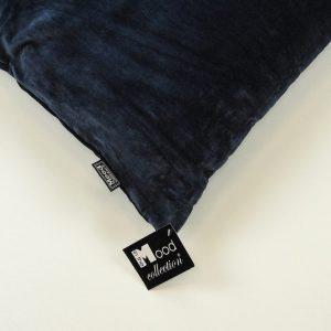 Mørk marineblå velour pude 45 x 45 cm a