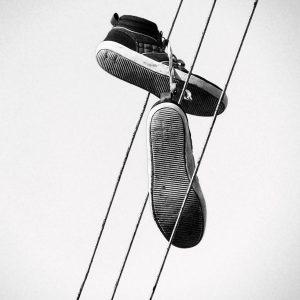 Shoes in the high sort/hvid foto - billeder i ramme fra Boligpynt