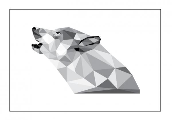 Ulven i ramme - Billeder fra Boligpynt