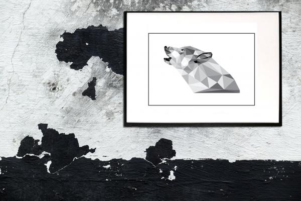 Ulven i ramme - Billeder fra Boligpynt opsat