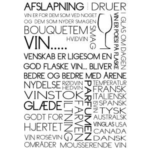 Vin plakat til vin elskere i ramme fra Boligpynt