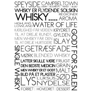 Whisky plakat til whisky elskere i ramme fra Boligpynt