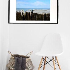 Woodbeach fotografi i farver i ramme fra Boligpynt