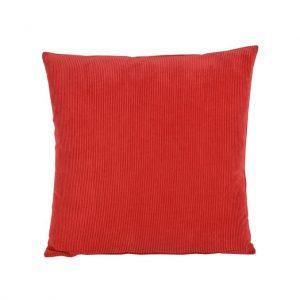Rød baby fløjls pude 45 x 45 cm