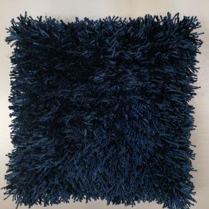 Marineblå strimmel pude 45 x 45 cm